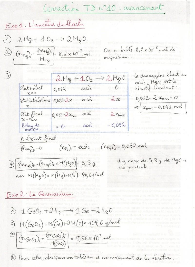 TD n°8 : Tableaux d'avancement Numyri95