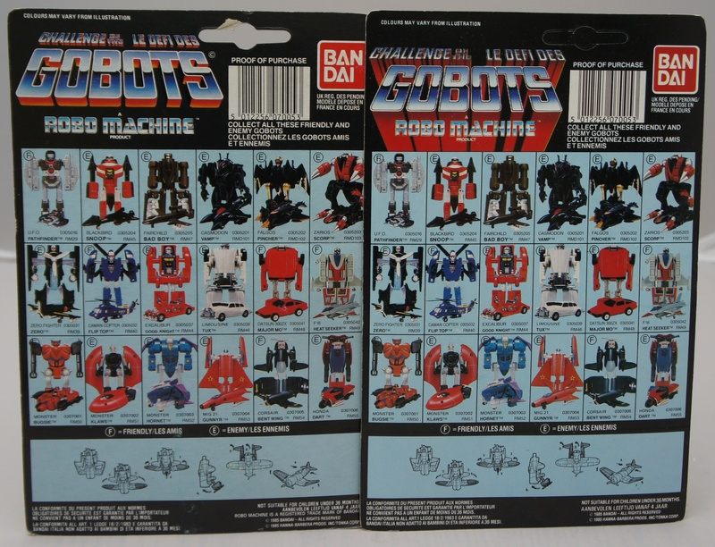L-R: Mask, Gi-Joe, Roadblasters, Robo Machine... Rm-54-12
