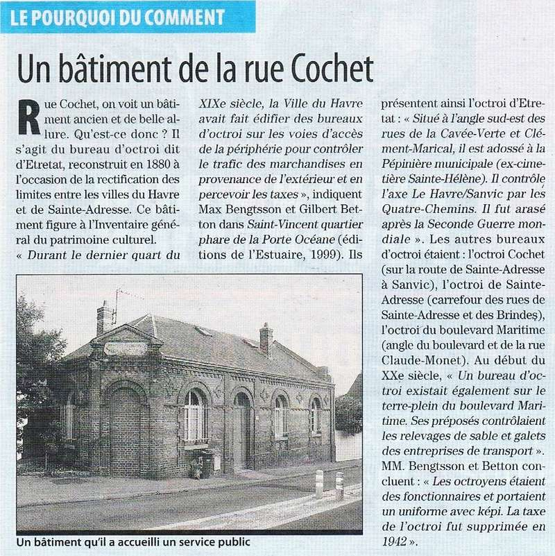 Havre - Le Havre - Bureau d'Octroi d'Etretat rue Cochet  2012-012