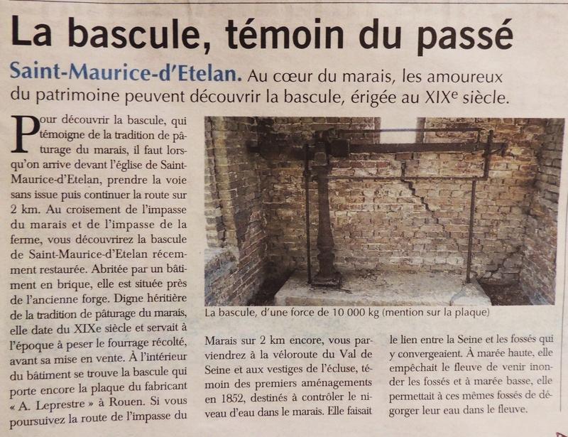 Saint-Maurice-d'Etelan - La bascule, témoin du passé 2016-011