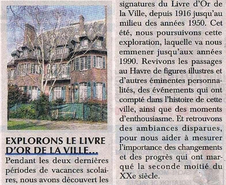 hebert - Découverte du Livre d'or de la Ville du Havre II 2016-029