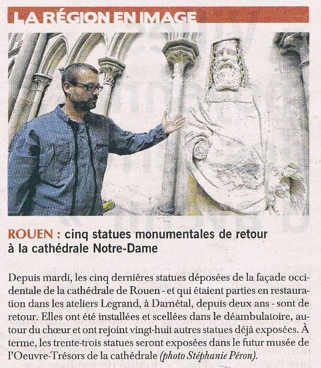 Rouen - 5 statues de retour sur la cathédrale 2016-116