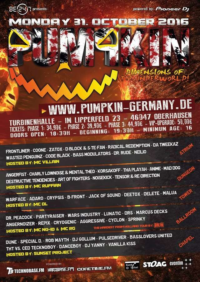 "PUMPKIN 2016 - ""DIMENSIONS OF THE UNDERWORLD"" - 31 Octobre 2016 - Turbinenhalle - Oberhausen - Allemagne Pumpki10"