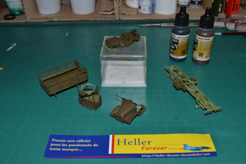"""La 2ème DB """"Jeep - GMC CCKW353 - Sherman M4a2""""  [Heller 1/72] Dsc_0060"""