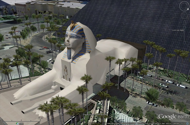 "Sphynx de l'hôtel ""Le Luxor"", Las Vegas, Nevada - Etats-Unis Tsge_034"
