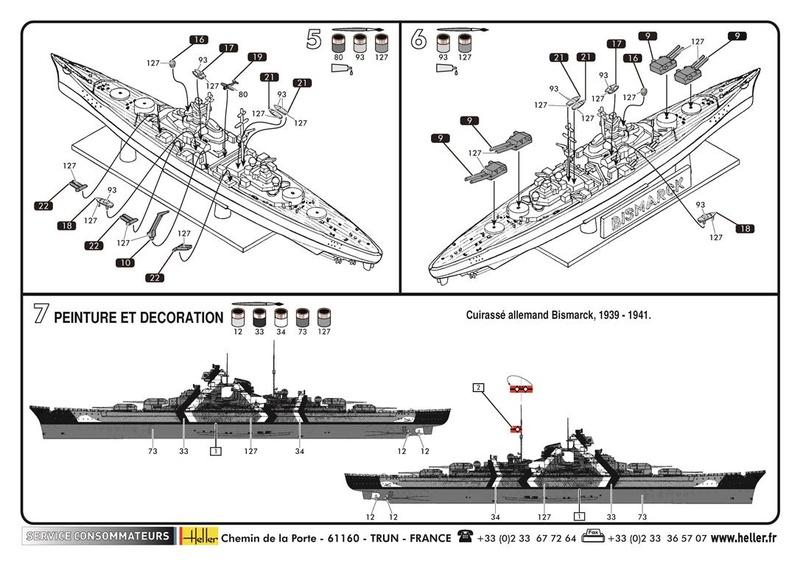 CUIRASSE BISMARCK - HELLER - 1/2000 - REF : 49051 - NOTICE  49051_11