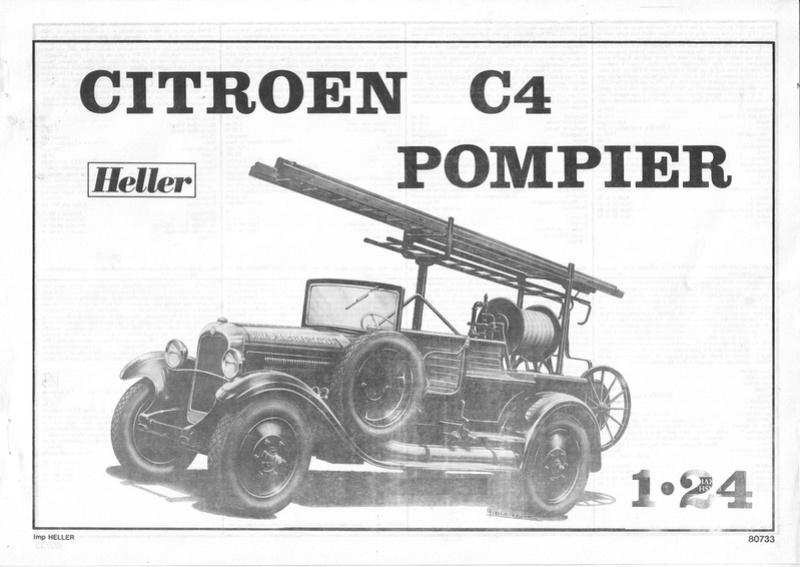 CITROEN C4 POMPIERS - HELLER - 1/24 - REF : 80733 - NOTICE  Roenc410