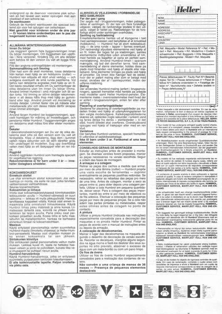CITROEN C4 POMPIERS - HELLER - 1/24 - REF : 80733 - NOTICE  Roenc418