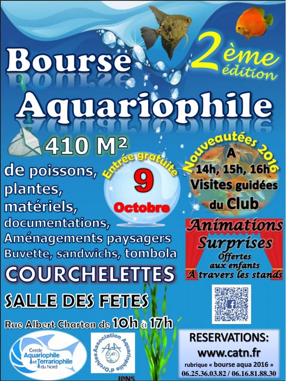 bourse aquariophile courchelettes 2016 Affich11
