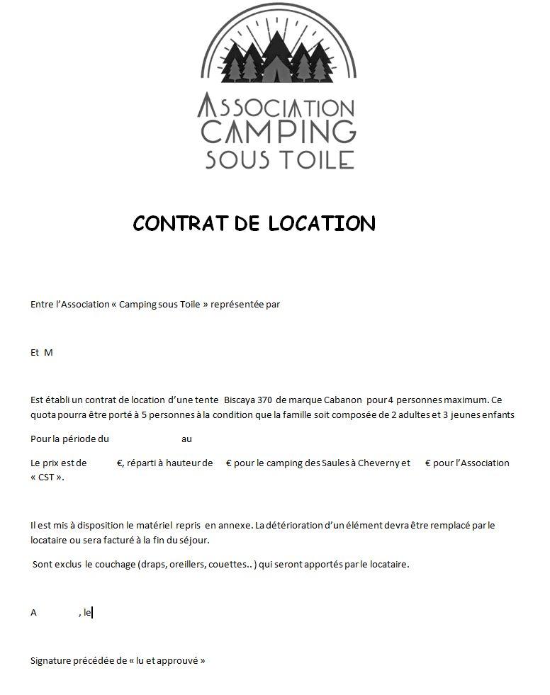 Camp'toile la tente locative de l'association Contra10