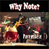 Why note ?