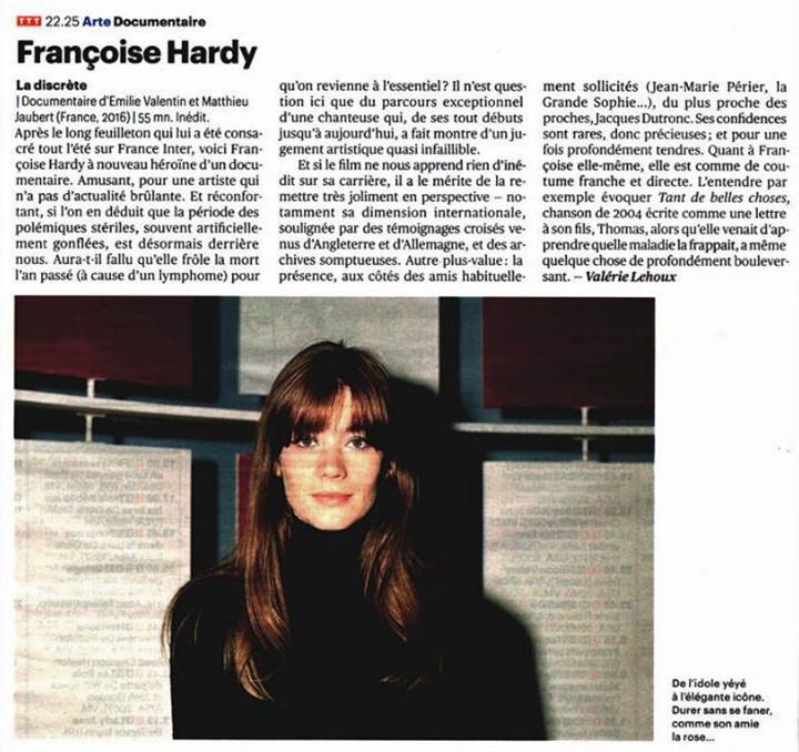 23 septembre 2016 - Arte - Françoise Hardy, la discrète Tylyra12