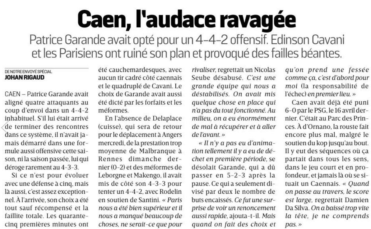 [5e journée de L1] SM Caen 0-6 Paris SG - Page 2 Equipe19