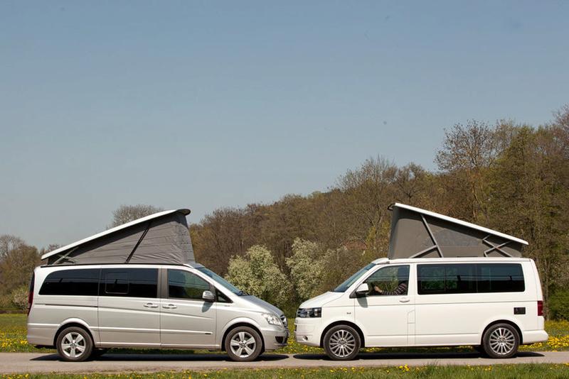 Mercedes Viano Marco Polo VS Volkswagen T5 California !!! Merced10
