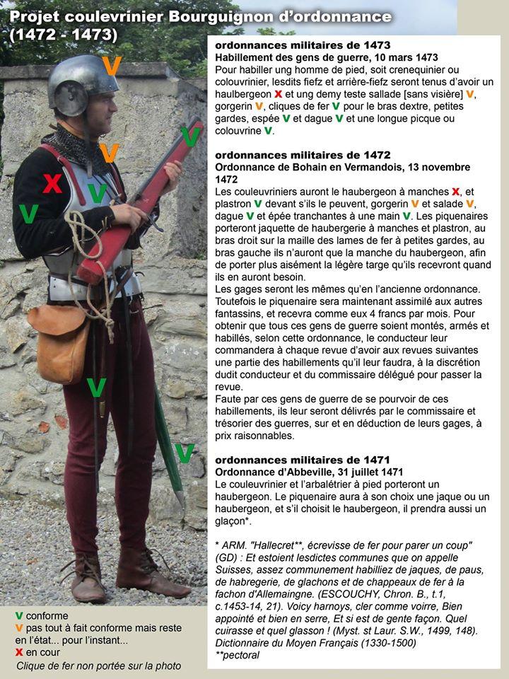 Projet coulevrinier ordonnances de 1472/73 14692010