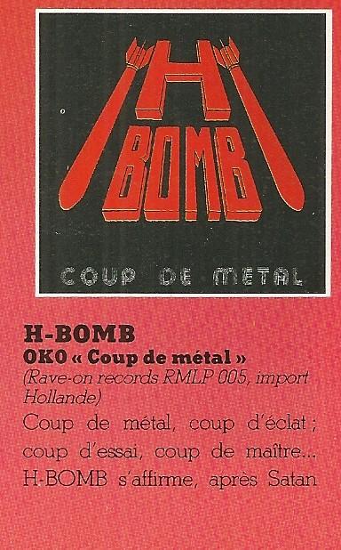 "H-BOMB Coup de métal (Chronique du ""Metal Attack"" Novembre 1984) Numyri12"