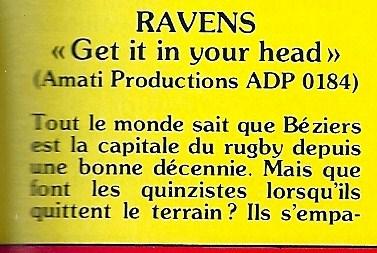 RAVENS Get It In Your Head (1984 - 2017) NO REMORSE Records Numyri16