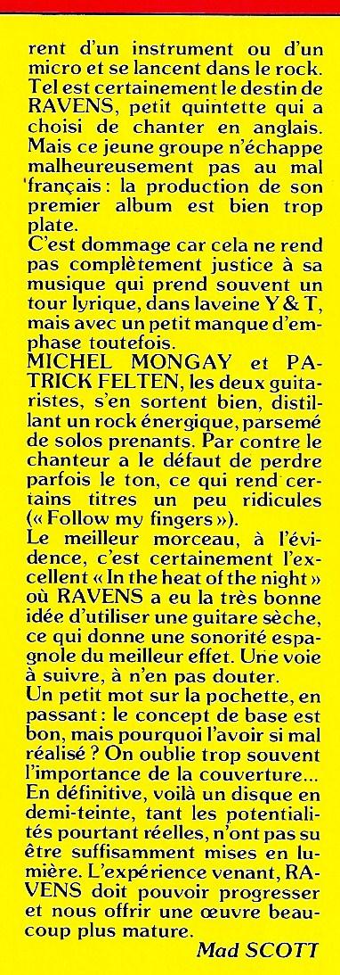 RAVENS Get It In Your Head (1984 - 2017) NO REMORSE Records Numyri17