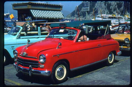 STREET VIEW : les taxis de Capri 44950410