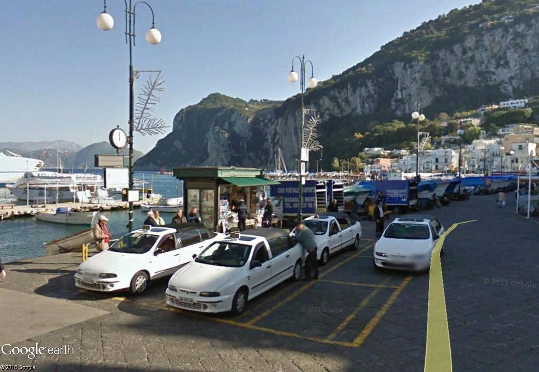STREET VIEW : les taxis de Capri Capri_11