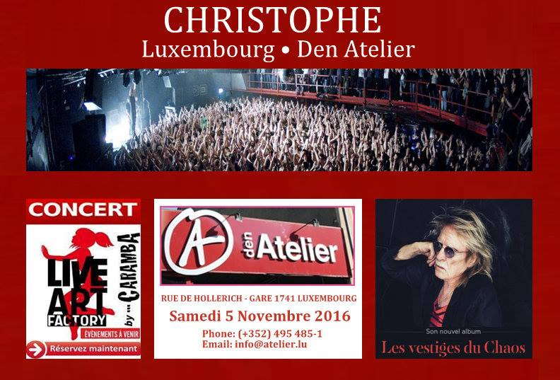 Christophe, un nouvel album et un concert à Luxembourg 13512110