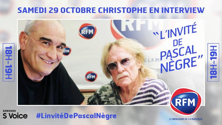 Pascal Nègre recevra Christophe, ce samedi 29 octobre, dès 18h Samedi10