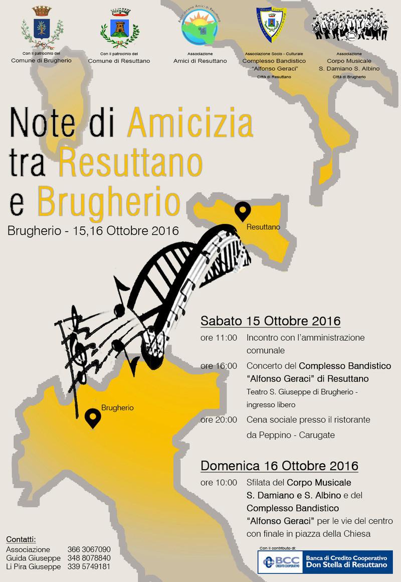 BRUGHERIO – RESUTTANO IL LEGAME TRA LE DUE CITTÀ CELEBRATO DALLA MUSICA Locand10