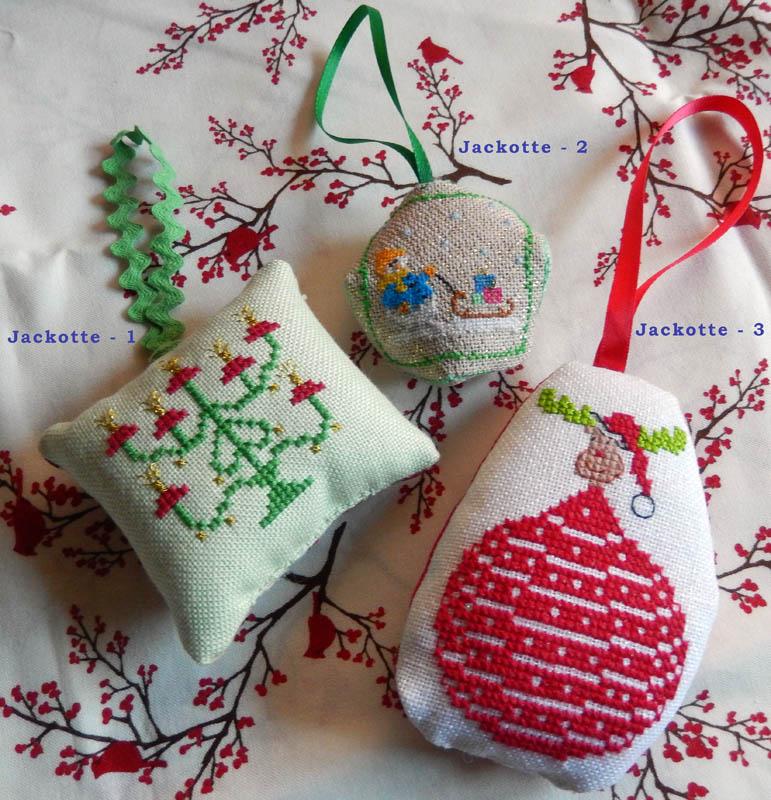 Les broderies déjà terminées pour Noël 2016 ................... 2016-010