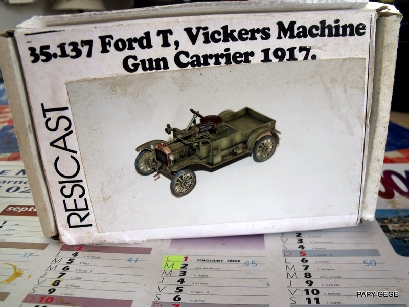 FORD T vickers machine gun carrier 1917 1/35 RESICAST 01-dsc11