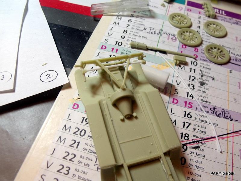 FORD T vickers machine gun carrier 1917 1/35 RESICAST 12-dsc11