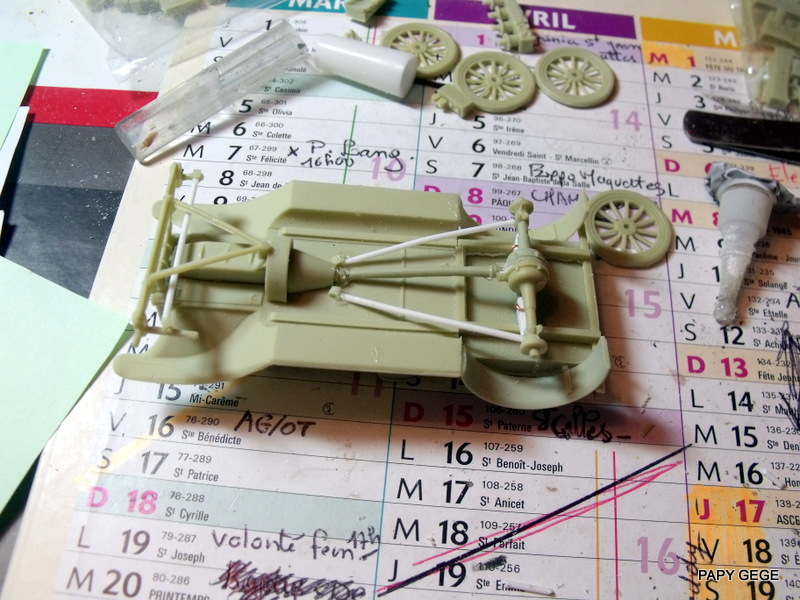 FORD T vickers machine gun carrier 1917 1/35 RESICAST 13-dsc11