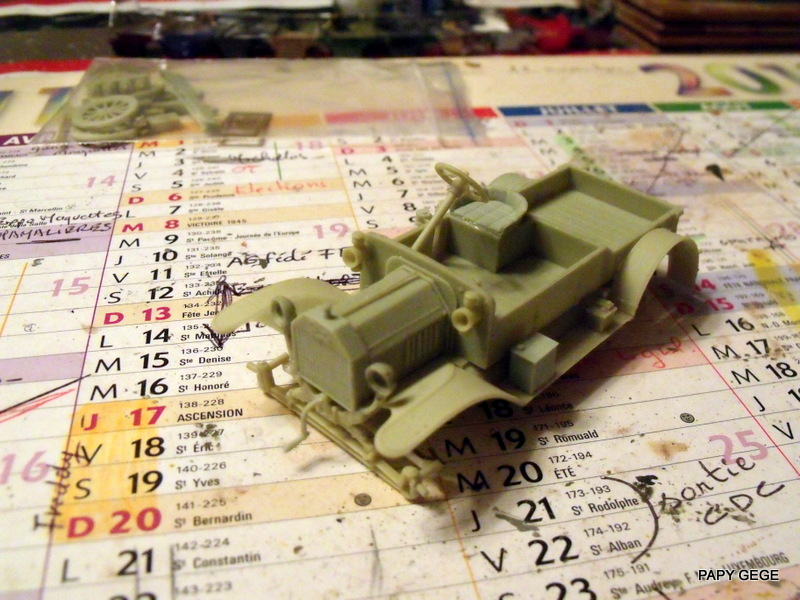 FORD T vickers machine gun carrier 1917 1/35 RESICAST 14-dsc11
