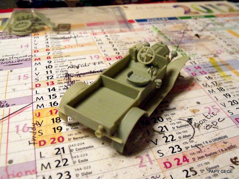 FORD T vickers machine gun carrier 1917 1/35 RESICAST 15-dsc11