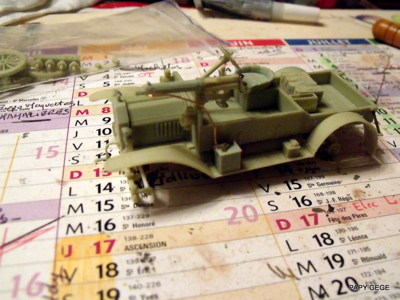 FORD T vickers machine gun carrier 1917 1/35 RESICAST 19-dsc11