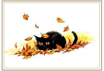 Poésie et textes Les chats et l' automne Chat-a10
