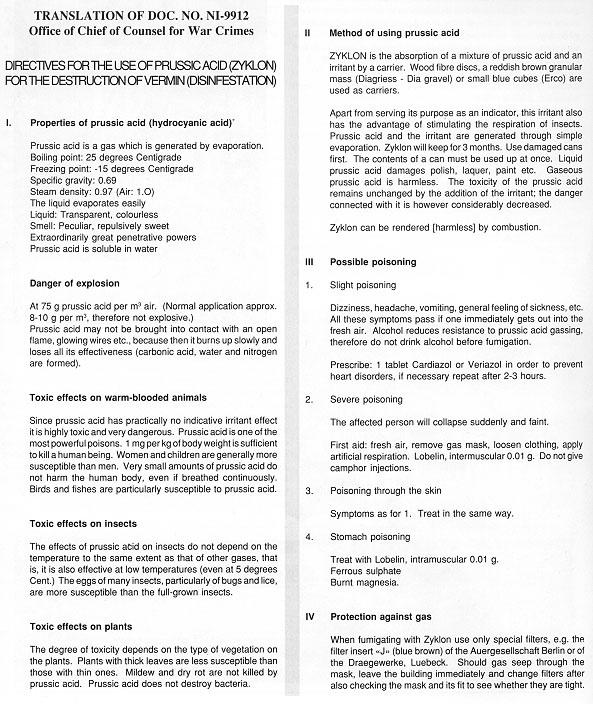 Questions importantes sur les chambres à gaz Zyklon10