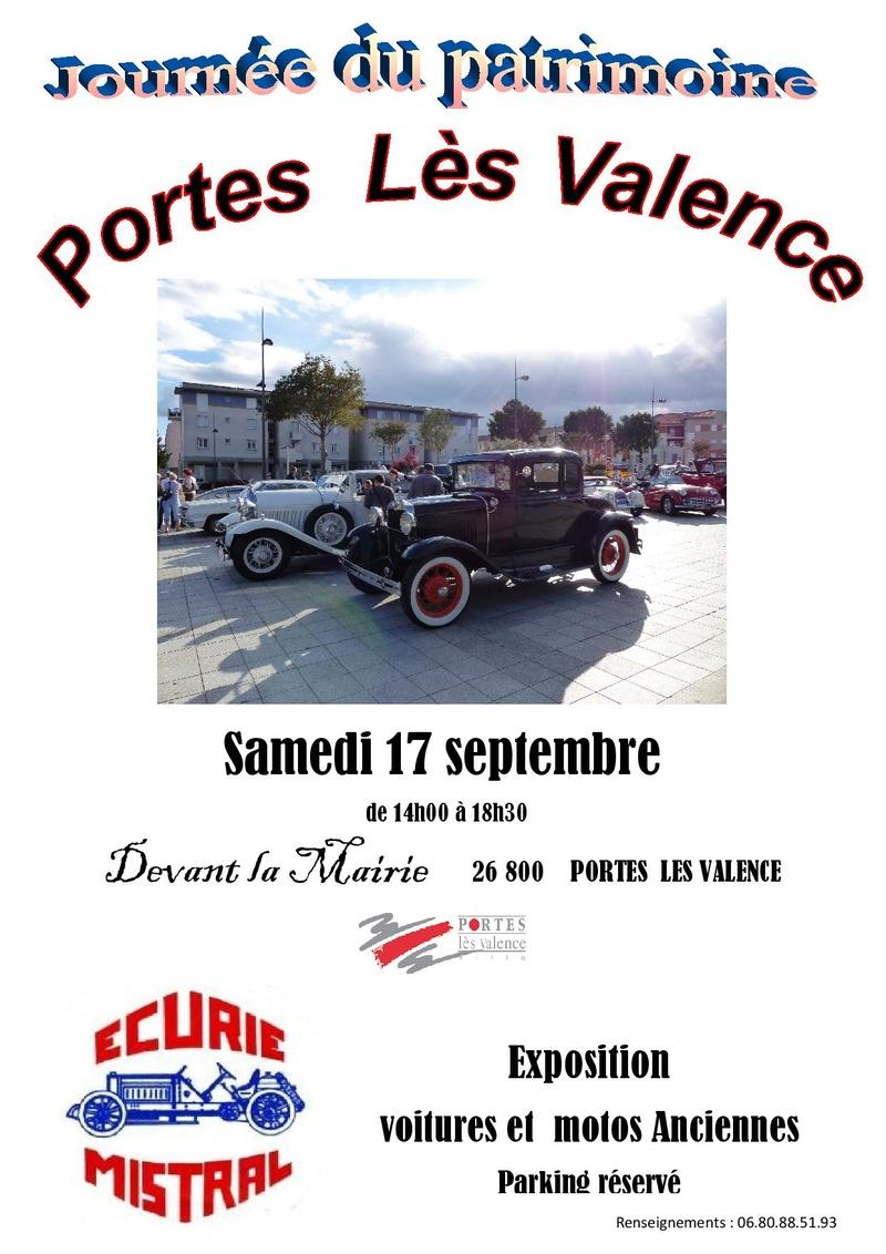 [26] 17/09/2016 - Portes lès Valence - Journée du patrimoine Affich10