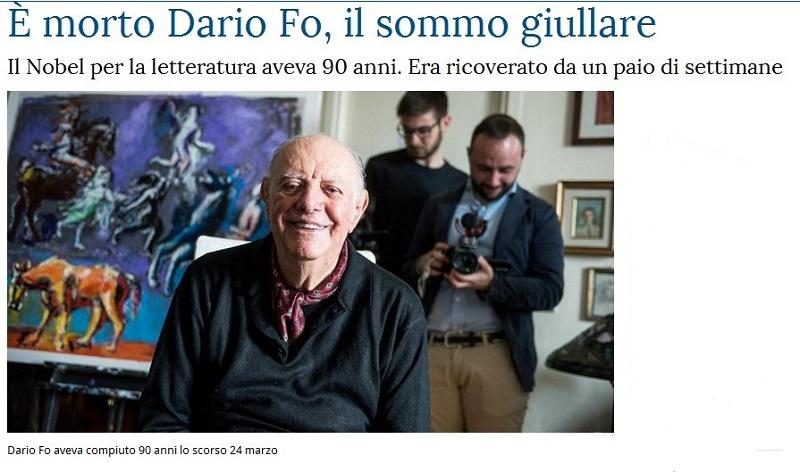 Addio a Dario Fo Fo10