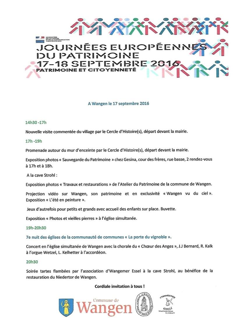 Journées européennes du patrimoine le 17 septembre 2016 à Wangen Scan0010