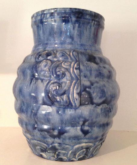 Temuka Ware Maori Motif Blue Vase courtesy steflaw Temuka10