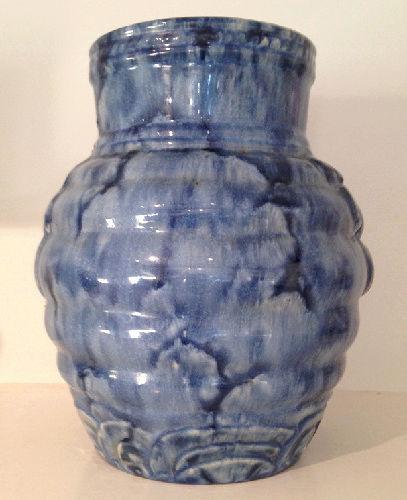 Temuka Ware Maori Motif Blue Vase courtesy steflaw Temuka12