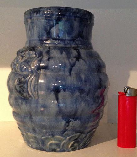 Temuka Ware Maori Motif Blue Vase courtesy steflaw Temuka13