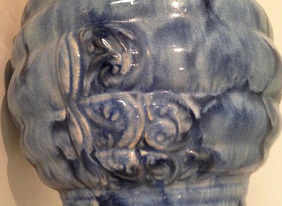 Temuka Ware Maori Motif Blue Vase courtesy steflaw Temuka14
