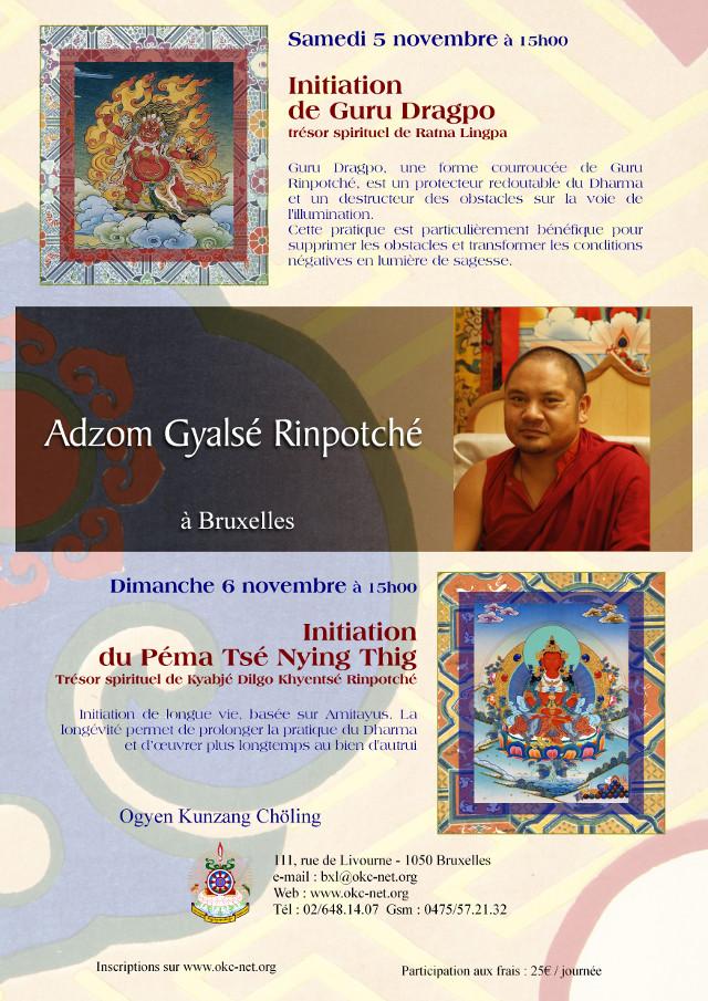 Adzom Gyalsé Rinpoché Bruxelles Novemre 2016 1ee0c610