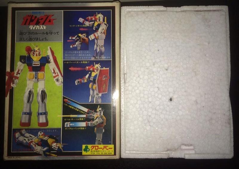 Robot-Gundam-RX-78-DX-Clover-con 70 80 Vintage Spara Dischi al Petto 14390610