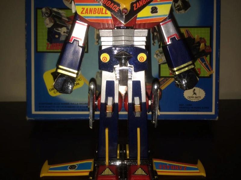 Robot-ZAMBOT-3-Junior-3-in-1-Ceppiratti-Die-Cast-1980-Zamboace-Zambull-Zambase   14440611