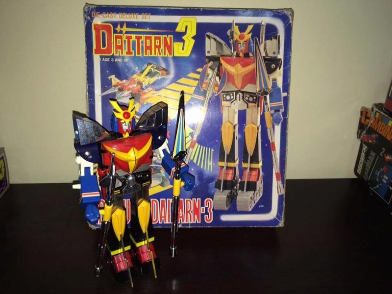 Daitarn 3 Clover DX Sunrise Deluxe set Daitan TRE Toys Anni 70 80 Vintage 14441111
