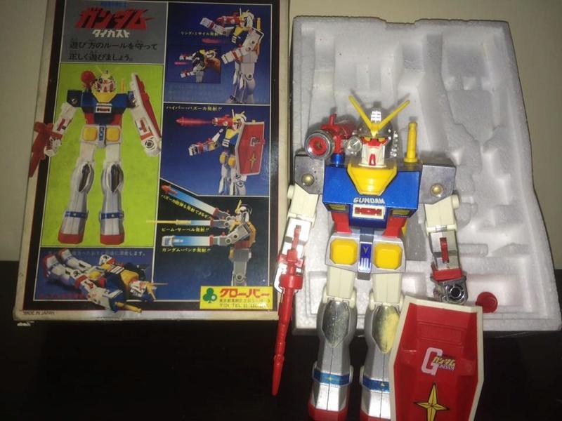 Robot-Gundam-RX-78-DX-Clover-con 70 80 Vintage Spara Dischi al Petto 14445910