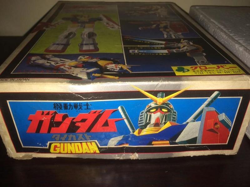 Robot-Gundam-RX-78-DX-Clover-con 70 80 Vintage Spara Dischi al Petto 14446110