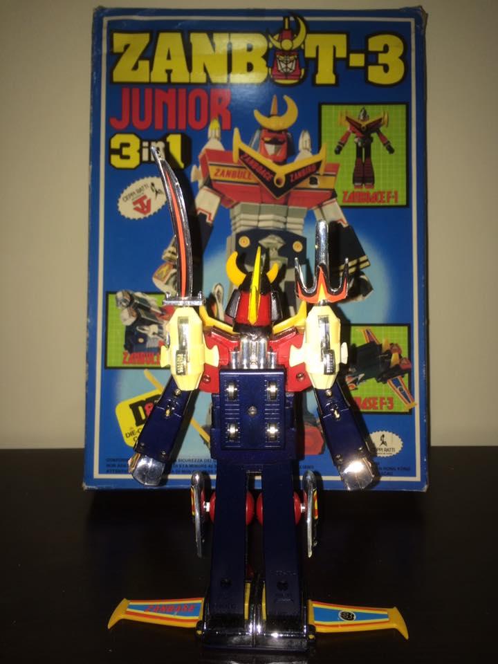Robot-ZAMBOT-3-Junior-3-in-1-Ceppiratti-Die-Cast-1980-Zamboace-Zambull-Zambase   14449011